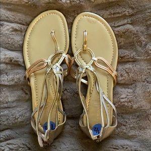 Tri tone sandals